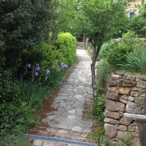 Garden path leading up to the house.